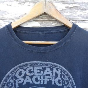 Shirts - [Ocean Pacific] Distressed T-Shirt Tee Black